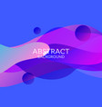 abstract 3d colorful gradient drop liquid vector image vector image