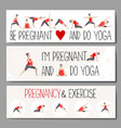 Banners for advertising pregnant yoga vector image vector image