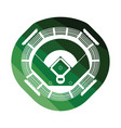 baseball stadium icon vector image vector image