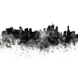 Brisbane skyline in black watercolor on white vector image vector image