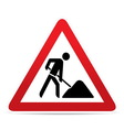 building construction site warning sign vector image