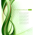 Business elegant abstract green background vector image vector image
