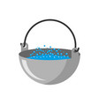 camp bowler isolated camping pot on white vector image