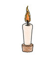 color crayon stripe cartoon decorative candle spa vector image vector image