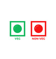 colorful veg and non-veg symbol vector image vector image