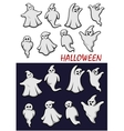 Cute Halloween ghosts vector image
