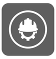 Development Helmet Flat Squared Icon vector image vector image