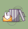 email spam message communication trash can vector image