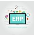 erp enterprise reource planning vector image vector image