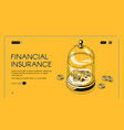 financial insurance isometric landing page banner vector image vector image