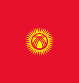 flag of kyrgyzstan official colors and proportions vector image