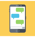 Flat design of mobile chat vector image vector image
