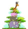 funny animals cartoon posing vector image vector image