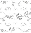 funny sheep flying in the clouds vector image vector image