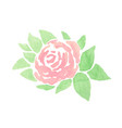 Hand drawn abstract watercolor pink rose