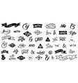 hand lettered ampersands and catchwords vintage vector image