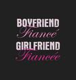 happy valentines day typography logo emblem vector image vector image