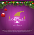 horizontal christmas border frame with fir vector image vector image