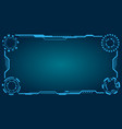 hud futuristic frame abstract technology panel vector image vector image