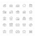 icon set - home thin line high detail vector image vector image