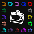 Id card icon sign Lots of colorful symbols for vector image vector image