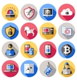 Internet Security Flat Icons Set vector image vector image