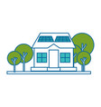 isolated solar panel house vector image
