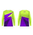 jersey design sportwear vector image vector image
