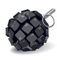 keyboard grenade vector image vector image