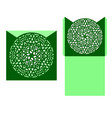 laser cut card template with mandala vector image vector image
