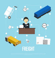 logistics and freight shipment flowchart vector image
