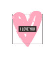 love greeting card minimalism style vector image