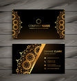 luxury golden ornament business card vector image vector image