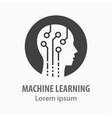 machine learning icon symbol vector image
