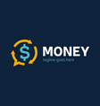 money change chat logo currency exchange news vector image
