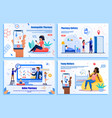 online pharmacy mobile app web banners vector image vector image