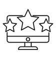 online seo rating icon outline style vector image vector image