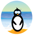 penguin on the beach part two vector image vector image