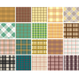 Plaid seamless patterns vector image vector image