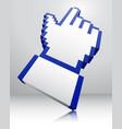 Pointer icon 3d