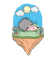 porcupine animal drawing vector image vector image