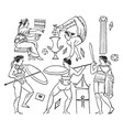 pyrrhic dance enemy is to be attacked vintage vector image vector image