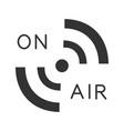 radio signal glyph icon vector image