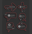 red stethoscope in shape of speech bubbles vector image