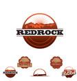 redrock insignia set vector image