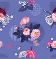 romantic natural seamless pattern with half vector image vector image