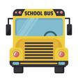 school bus icon yellow transport cabin for vector image