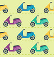 seamless pattern with scooters vector image vector image