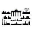 set berlin landmarks vector image vector image