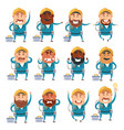 set of electrician flat cions vector image vector image